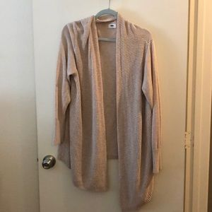 Long sleeve open front cardi